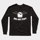 Boo and Stuff cute Ghost Halloween Funny costume Gift Black Long Sleeve T-Shirt