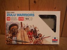 ESCI Zulu Warriors and British Infantry figures mixed in one box 1/72 (G005)
