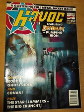 HAVOC MARVEL COMICS #9 7 SEPTEMBER 1991 BRITISH WEEKLY ROBOCOP GHOST RIDER^