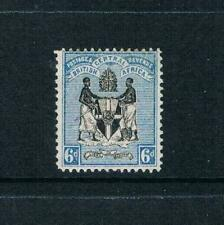 British Central Africa 1895 - 6d Coat of Arms, Blue-Blk - SC 24 [SG 24] MINT 20