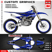 Kungfu Graphics MX Decal Kit for Yamaha YZ250F YZ 450F 250F 2018 2019 2020 Blue