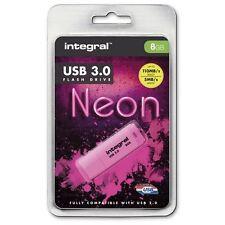 Integral 8GB Neon USB 3.0 FLASH DRIVE IN ROSA - UP TO 10X più veloce USB 2.0