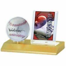 Baseball and Collector Card Holder 81209 Ultra Pro Display Series Wood Base