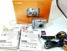 Canon PowerShot A540 6.0MP Digital Camera - Silver, Memory Card Included