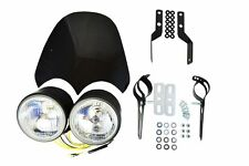 Project Streetfighter Motorbike Motorcycle Headlight Kit with Screen & Brackets