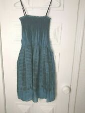Max Studio Boho mini dress Teal/Black, one size, adjustable spaghetti straps