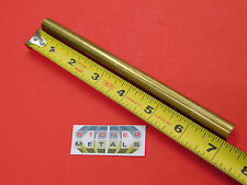 "1/2"" C360 BRASS SOLID ROUND ROD 7"" long H02 .50"" OD New Lathe Bar Stock 1/2 Hard"