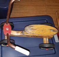 Vintage Wooden Radio Flyer Sit N Scoot