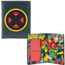 MARVEL Licensed X-MEN Logo Bi-Fold WALLET Comic Print Interior w/ Rubber Inlay