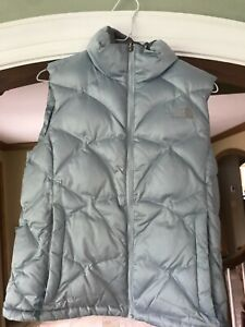 Womens The North Face Goose Down 550 Fill Puffer Vest Jacket Blue Aconcagua Sz S