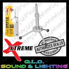 XTREME MA340 Tripod Base Microphone Desk Stand - Chrome - Height Adjustable