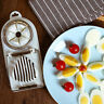 2 In 1 Stainless Steel Boiled Egg Slicer Cutter Mushroom Tomato Kitchen Chopper