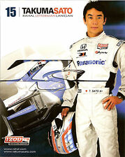 2012 TAKUMA SATO INDIANAPOLIS 500 INDY CAR HONDA RACING PHOTO CARD POSTCARD