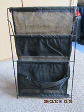 BNIP BLACK 3 POCKETS MAGAZINE RACK IDEAL FOR CAMPING, MOTORHOME, CARAVAN