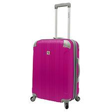 """Malibu Newport 24"""" Medium Hot Pink Expand Spinner Suitcase Luggage Travel Bag"""
