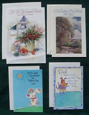 4 Lot NEW Parents/Father Day  Greeting Cards w/ Envelopes Ambassador/Hallmark