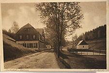 15404 AK Breitenbach in Böhmen Straße mit Häusern und Dreckschänke um 1925