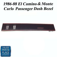86-88 El Camino / Monte Carlo New Black SS Passenger Dash Bezel W/out AC - Each