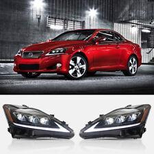 LED Headlights for Lexus IS250 IS350 3 Full LED Lens 2006-2012 Front Lamp