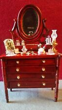 Miniature Dressed Dressing Table for 1/12 scale Dolls House