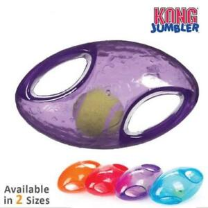 KONG Jumbler Football Dog Toy Interactive Fun (2 Sizes: M/L and L/XL)