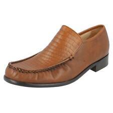 Piel Marrón para Hombre Grenson Zapatos de Vestir sin Cordones Montana
