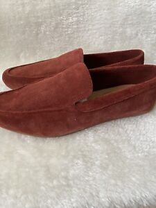 Clarks Men's Red Reazor Drive Loafer Shoes Nubuck  Sz 8.5 New In Box