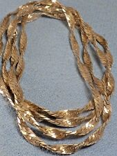 "Sterling Silver Twisted Men's Women's Necklace 30"" Extra Long 15.1 Grams"