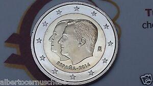 2 euro 2014 fdc Spagna Espagne Espana Spain Spanien Felipe VI Испания 西班牙