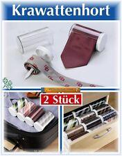 4er Set Krawattenhort Krawattenbox Aufbewahrung Krawatte Box  Ordnungssystem