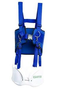 Fishing Belt Shoulder Harness Offshore Stand Up Fish Fighting Rod Holder Blue