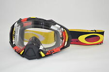 Maschera Oakley Mayhem Pro MX Legacy Red / Clear oo7051-06 Cross Enduro