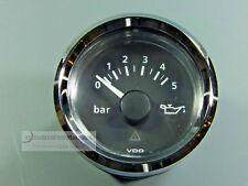 VDO ÖLDRUCKANZEIGER  OEL DRUCK  5 bar  OIL PRESSURE GAUGE 12V  / 24V  Chromring