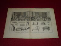 ENCYCLOPEDIE DIDEROT ARTS & METIERS / AIGUILLIER / PLANCHE DOUBLE GRAVEE 18e