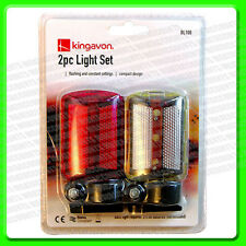 A Pack of 2 LED Bike Lights 1x Front & 1x Rear [BL108]                        2P