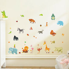 Jungle Animals DIY Wall Stickers Mural Home Decor Kids Room Nursery ba#cd