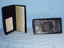 CALGARY FLAMES   Leather Checkbook NEW   black +