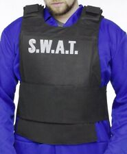 Police S.W.A.T. Costume Vest Accessory Fake Cop SWAT Bulletproof - Fast Ship -