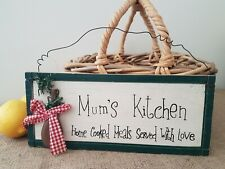 MUMS KITCHEN WOODEN COUNTRY WALL SIGN PLAQUE
