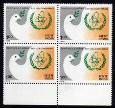 India Gomma integra, non linguellato 1979 23rd International ATOMIC Energy Agency conferenza, blocco di 4