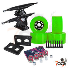 Cal 7 Longboard Flywheel 180mm Truck Bearing 90mm Green Skateboard Wheels