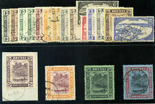 Brunei 1924 KGV set complete very fine used. SG 60-78.