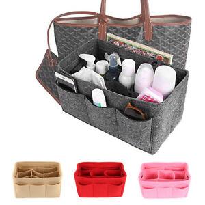 Felt Bag Organizer Travel  Purse Handbag Insert Pocket Storage Tote Liner