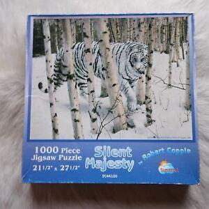 SILENT MAJESTY 1000 Piece Jigsaw Puzzle Robert Copple ANIMALS Woods WHITE TIGER