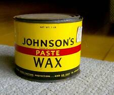 RARE vintage 1950s Johnson's Paste Wax OLD HOUSEHOLD PRODUCT tin can floor retro
