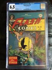 FLASH COMICS #83 CGC FN+ 6.5; White pg!; Hawkman cover! scarce!