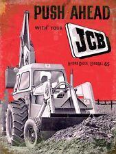 JCB Push Ahead large steel sign (og 4030)