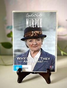 Agatha Christie Miss Marple DVD Why Didn't They Ask Evans? Region 4 Free Postage