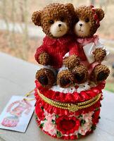 VALENTINE TRINKET BOX Vintage/2001Joelson Industries Valentine BEARS COUNTRY NWT