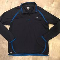 Fila 💫💫Men's Size XL Blue Running Long Sleeve Pullover 1/4 Zip Light Weight
